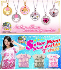 Sailor Moon 2013 T-shirts and Necklaces