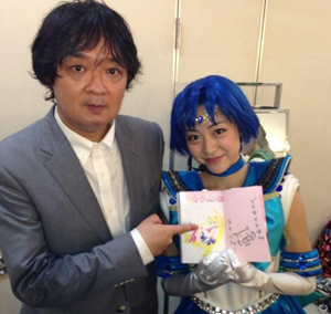 Fumio Osabu Osano Autograph with Matsuura Miyabi, actress portraying Sailor Mercury in La Reconquista