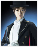 Famous Takarazuka Revue actress Yamato Yuuga in the role of Tuxedo Mask in La Reconquista