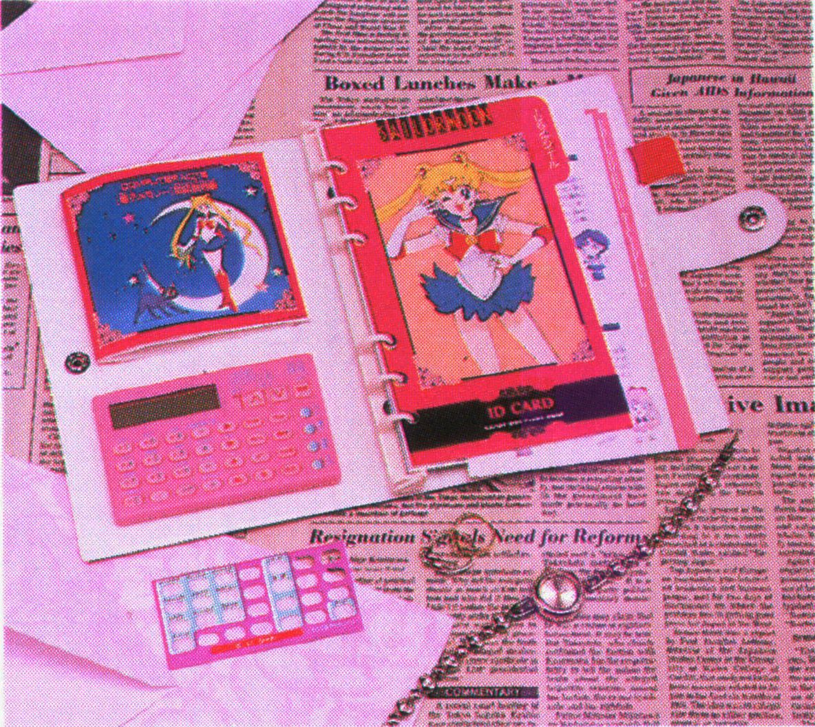 Sailor Moon merchandise: organizer sold by Bandai