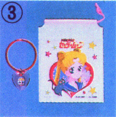 Sailor Moon merchandise: pouch and bracelet sold by Bandai