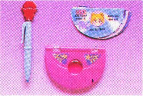 Sailor Moon merchandise: transformation pen, secret compact and info card on Sailor Moon sold by Bandai