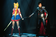 Picture of the Sailor Moon and Tuxedo Kamen from Pretty Guardian Sailor Moon -La Reconquista-