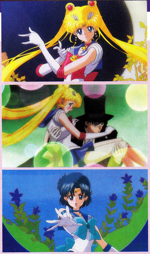 Screenshots from Sailor Moon Crystal shown in Sailor Moon Crystal article in EX Taishu magazine September 2014
